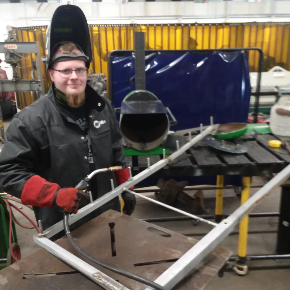 Welding Student Helps Local Athletic Programs